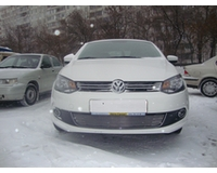 Решетка радиатора на автомобиль Фольксваген Поло, седан 2010- chrome. ZR.VW.POL.SED.10.c