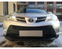 Защита радиатора для автомобиля Toyota РАВ4 2013- black верх. ZR.TOY.RAV.13.top.b
