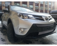 Решетка на радиатор для автомобиля Тойота Rav 4 (Стандарт) 2013- chrome низ. ZR.TOY.RAV.13.STAN.bot.c